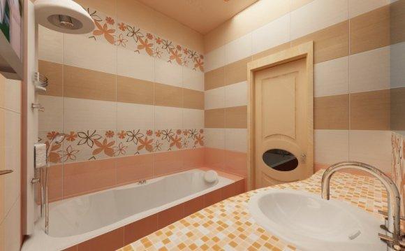 плитка для ванной с рисунком