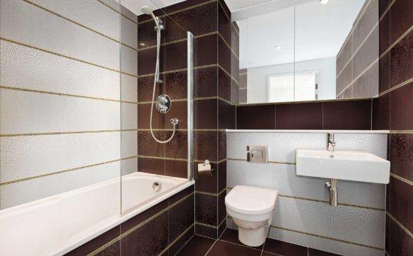 Плитка в интерьере ванной